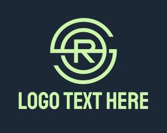 R - Green Monogram SRO logo design