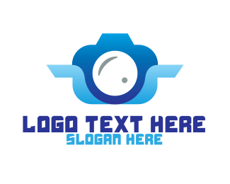 High Resolution - Blue Abstract Camera logo design