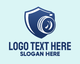 Camera - Security Camera Shield logo design