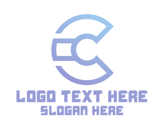 High Tech - Modern C Tech logo design