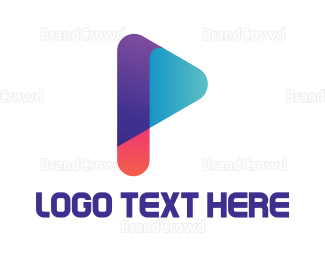 Advertising - Colorful P Media logo design