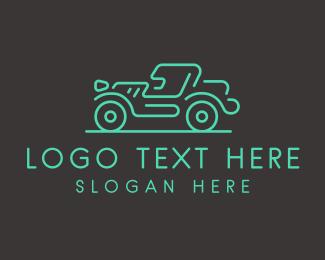 Vehicle - Minimalist Jeep Vehicle logo design