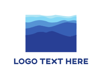 Layers - Blue Landscape logo design