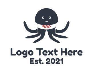 Sushi - Octopus Sushi logo design