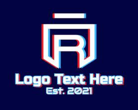 App - Static Motion Letter R Shield logo design