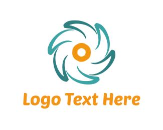 Daisy - Blue & Yellow Flower logo design