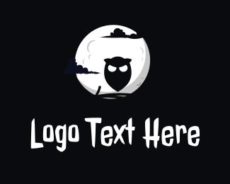 Moonlight - Owl Moonlight logo design