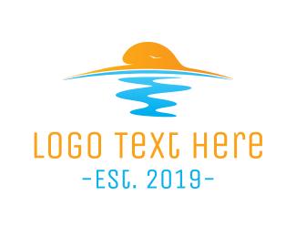 Sunset - Ocean Sunset  logo design