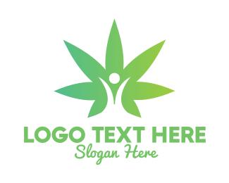 Cbd - Marijuana Leaf User logo design