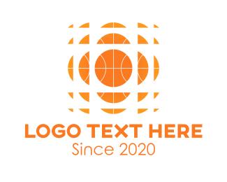 Hoop - Orange Basketball Hoops logo design