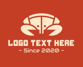 Crab - Technology Yellow Crab logo design