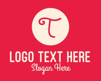 Handwritten - Pink Handwritten Letter T logo design