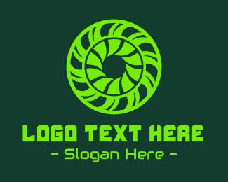 Toxic - Green Toxic Circle Reactor logo design