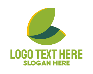 May - Green Leaf Butterfly Wings logo design