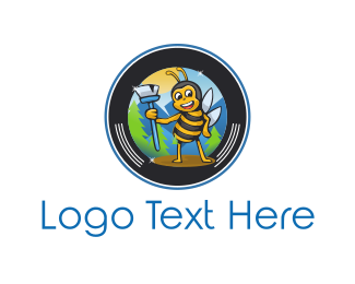Sweep - Sweeper Bee logo design