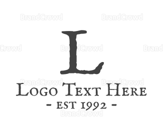 English - Traditional Lettermark logo design