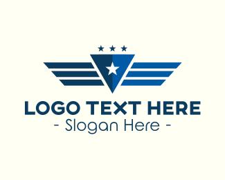 Pilot - Pilot Triangle Wings logo design