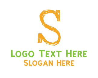 Preschool - Preschool Orange Letter S logo design