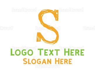 Acronym - Preschool Orange Letter S logo design