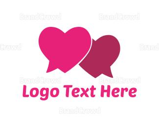 Pair - Love Chat logo design