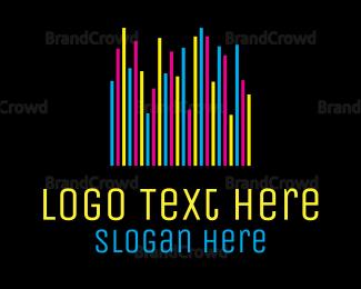 Stereo - Colorful Neon Bars logo design
