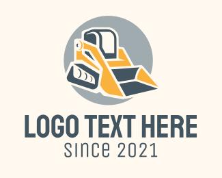 Excavator - Bulldozer Heavy Equipment logo design