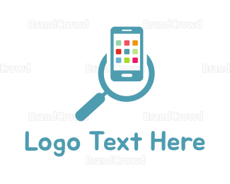Iphone - App Search logo design
