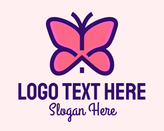 Metamorphosis - Pink Butterfly House logo design