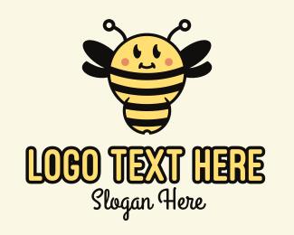Bumblebee - Cute Bumblebee Mascot logo design