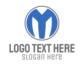 Business Consulting  - Blue M Circle logo design