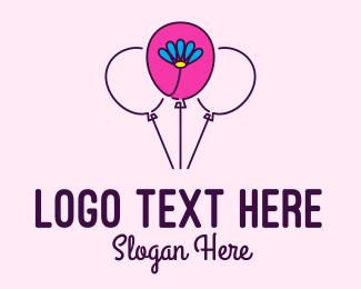 Balloon Store - Flower Balloon Decor logo design