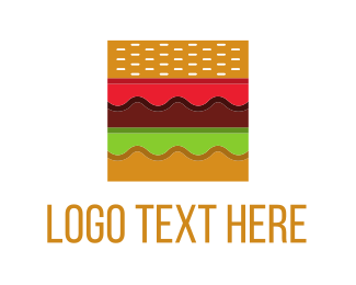 Burger - Square Burger logo design