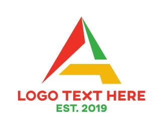 Paint Shop - Geometric Colorful A logo design