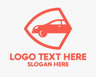 Professional Car Insurance Security Logo Maker