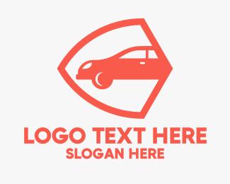 Professional Car Insurance Security Logo Maker