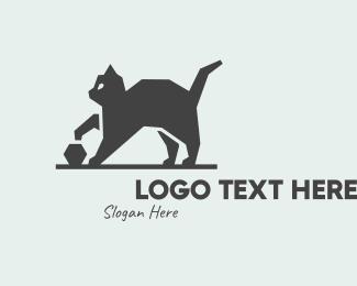 Cat - Black Cat logo design