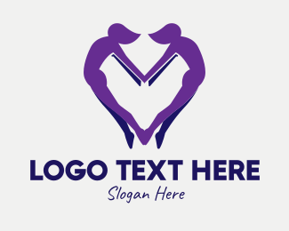 Lovers - Healthy Living Human logo design