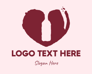 Wine Bottle - Rustic Wine Lover logo design