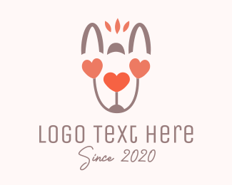 Valentines - Animal Love logo design