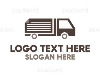 Distribution - Page Truck logo design