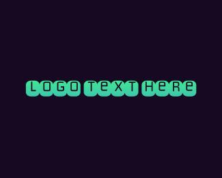 Uppercase - Blue Typeface logo design
