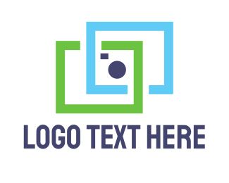 Video Conferencing - Square Camera logo design