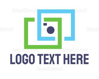 Picture Frame - Square Camera logo design