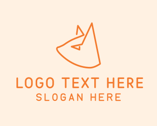 Pet Groom - Cat Head Outline logo design