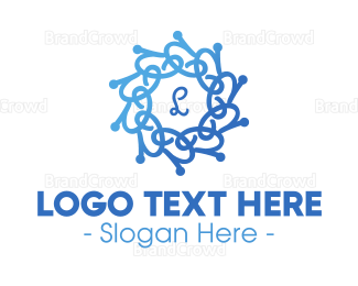Biology - Blue Gradient Vines logo design