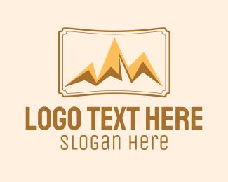 Tourist Destination - Mountain Peak Destination logo design