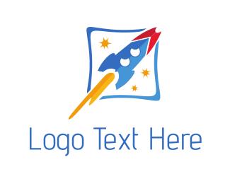 Spaceship - Rocket Ship logo design