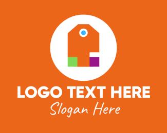 Outlet - Multicolor Price Tag logo design