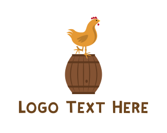 Chicken Farm - Chicken & Barrel logo design