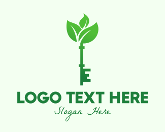 Home Garden - Eco Vintage Key logo design